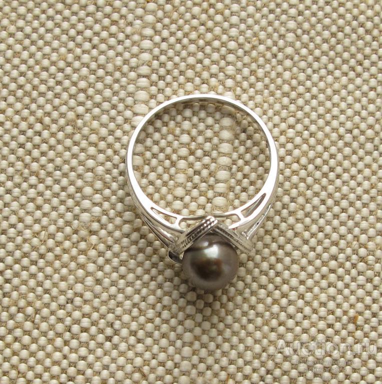 Кольцо, золото 750проба-18 карат, 2.75 грамма, жемчуг Таити, 18 размер.