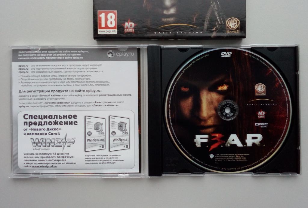 F.E.A.R. 3/ND Games/лицензия/DVD-ROM/PC/ПК/слипкейс/Jewel Box/распечатан