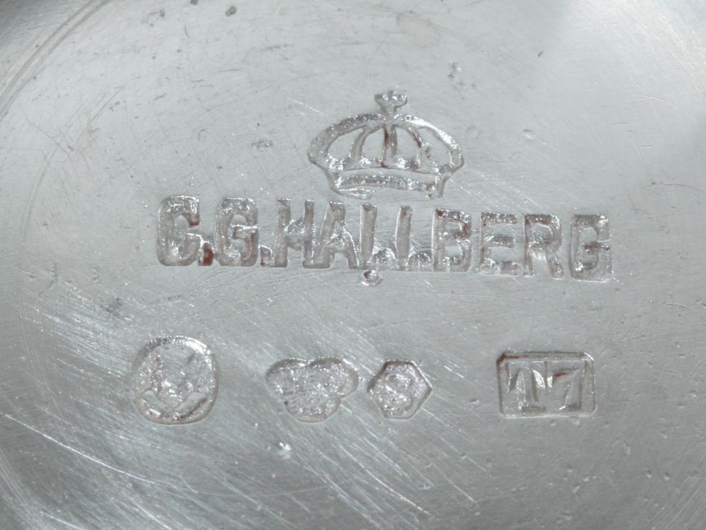 Серебряные стопки , 6 шт. Швеция, 1921 год.