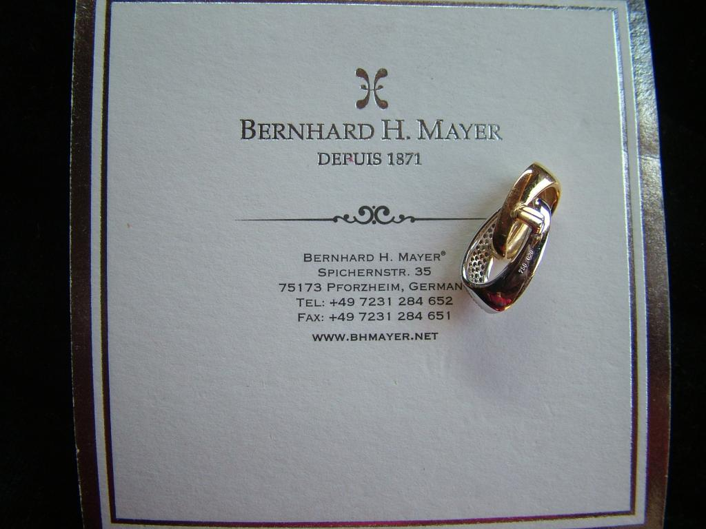 кулон подвеска ЗОЛОТО 750 бриллианты 0.2 ct.  Bernhard H.Mayer. Швейцария