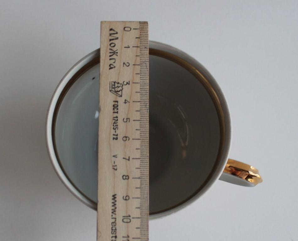 Фарфор Чайная пара блюдце чашка (чайный сервиз) ДОВБЫШ фарфоровый завод 1970 СССР # 5275