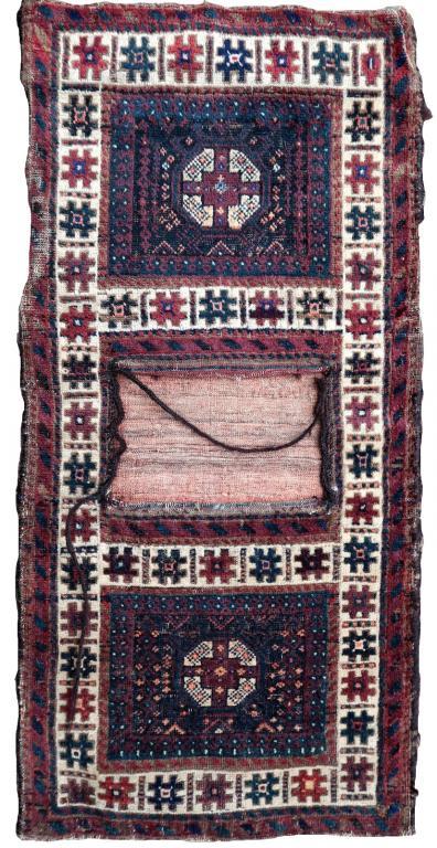 Антикварная Афганская коллекционная сумка ручной работы Балуч 47см х 98см 1900-е  -1P33