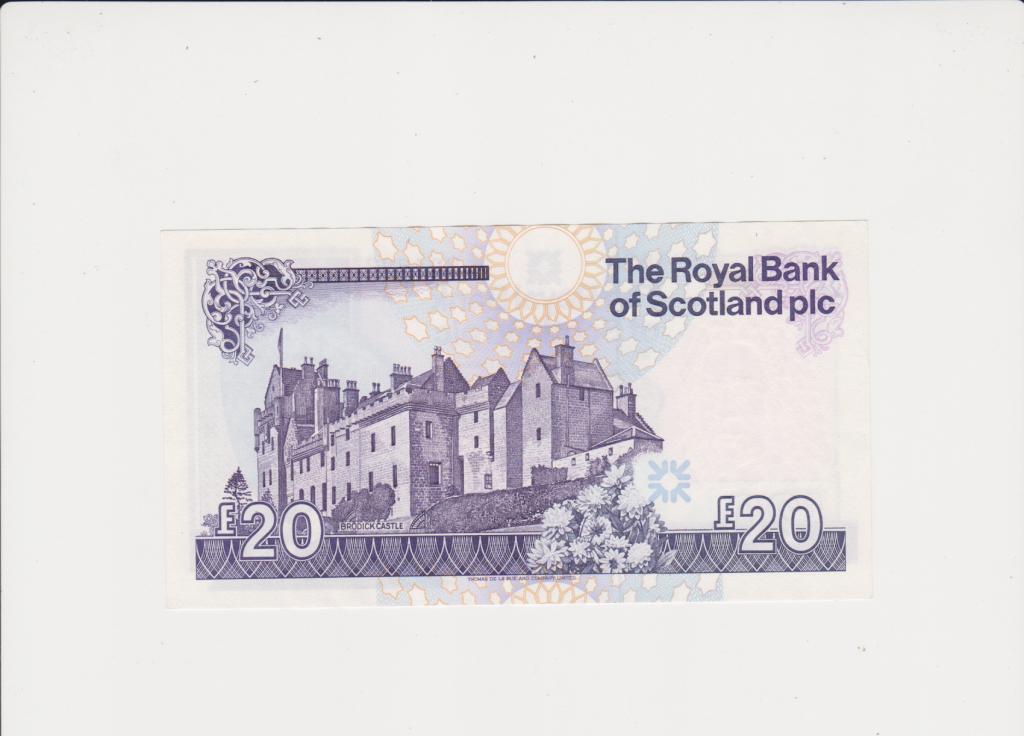 Шотландия 20 фунтов 2017  Состояние супер!