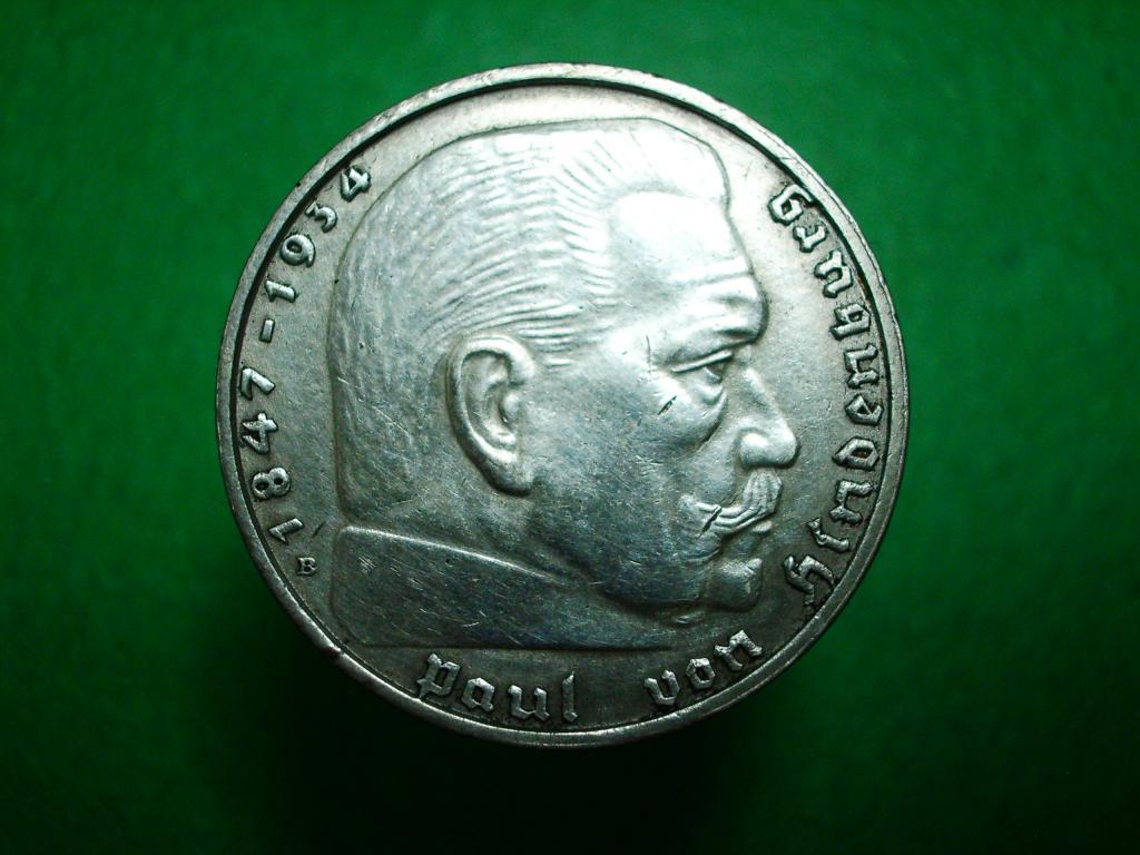 Германия. 2 марки 1938 года.В. Серебро. Отличное коллекционное состояние!