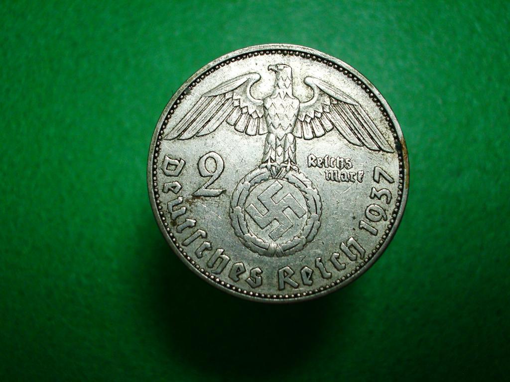 Германия. 2 марки 1937 года.А. Серебро. Отличное коллекционное состояние!