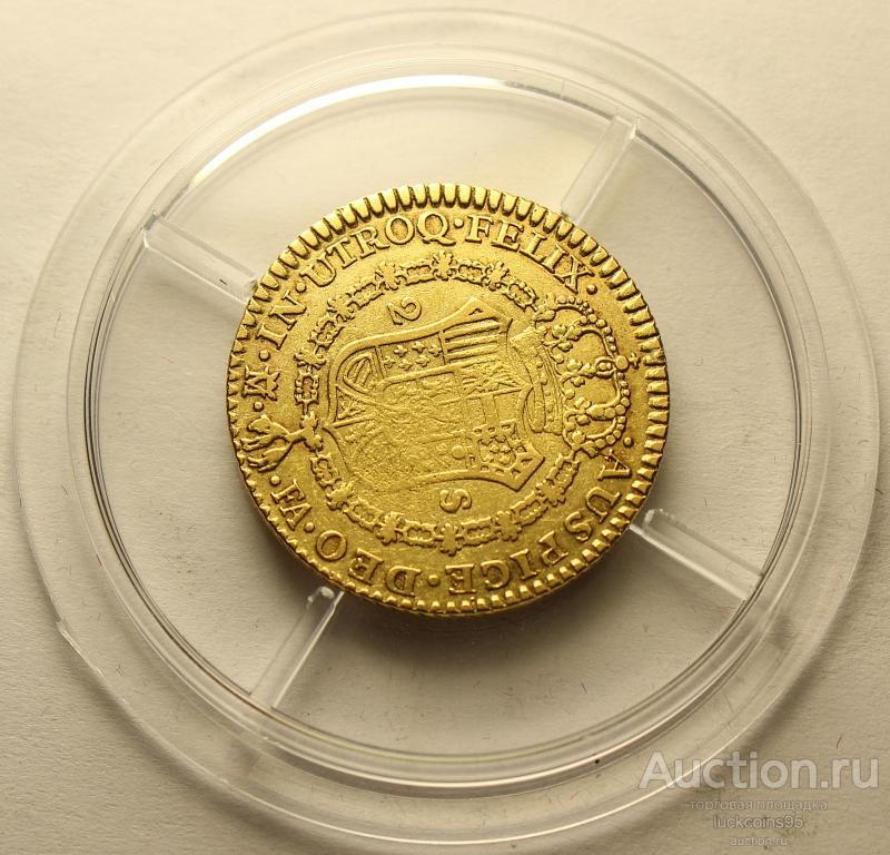 2 Эскудо 1804 год. Испания. Карл IV. Золото 875 пробы - 6.69 грамм. Редкость!