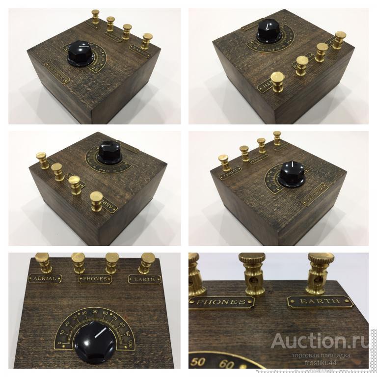 Детекторный приемник Crystal Radio, часы Nixie Clock ИН-12, ИН-4, Z566