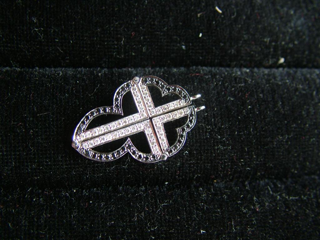 кулон Крест трансформер ЗОЛОТО 585 Бриллианты 0.45ct