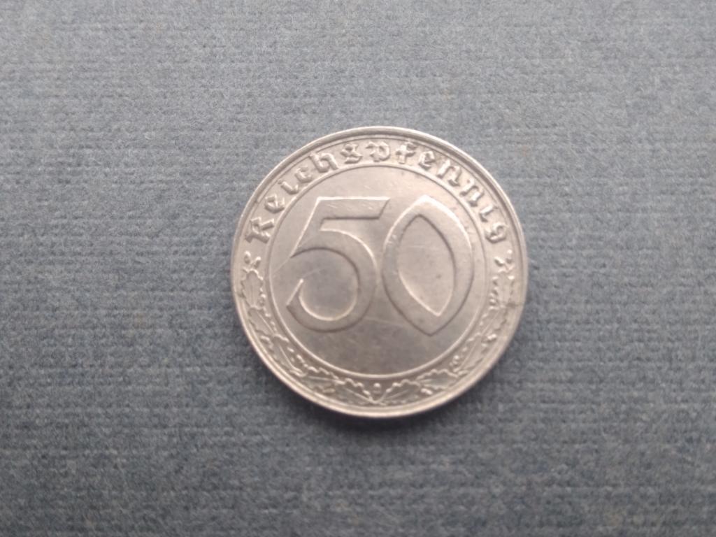 50 пфеннигов 1939D. Третий Рейх
