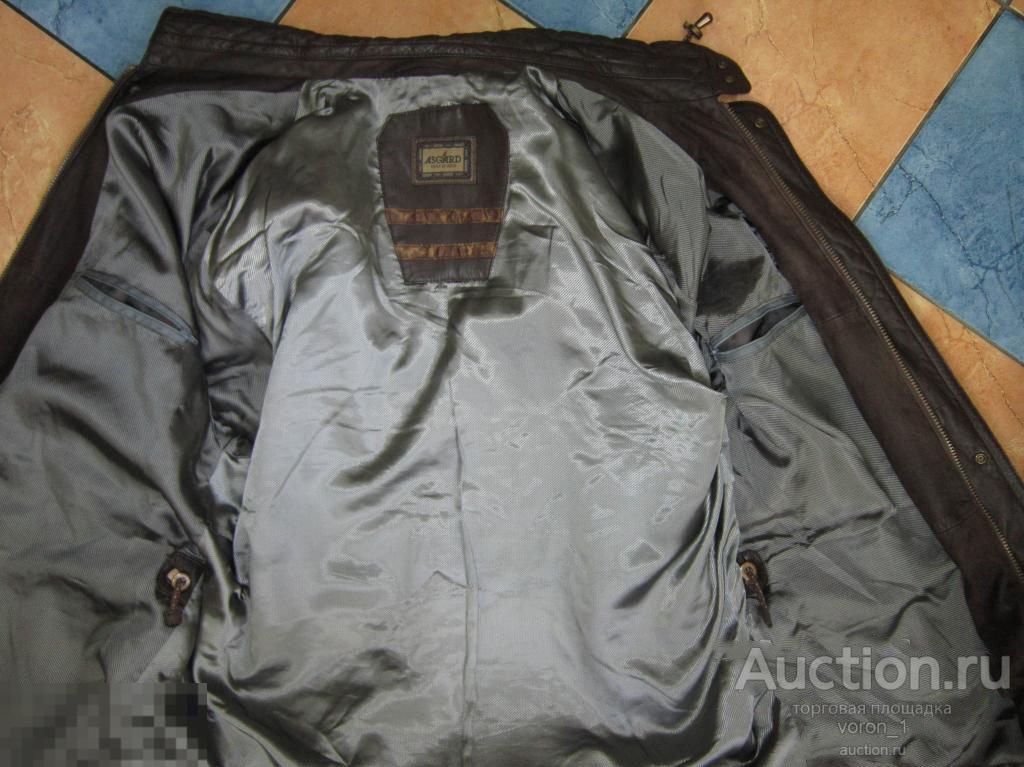 Качественная  оригинальная муж. кожаная куртка  - ASGARD -
