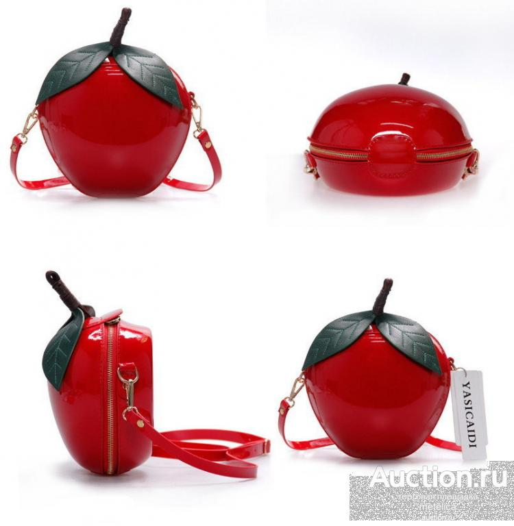 Маленькая красная сумка Apple NEW