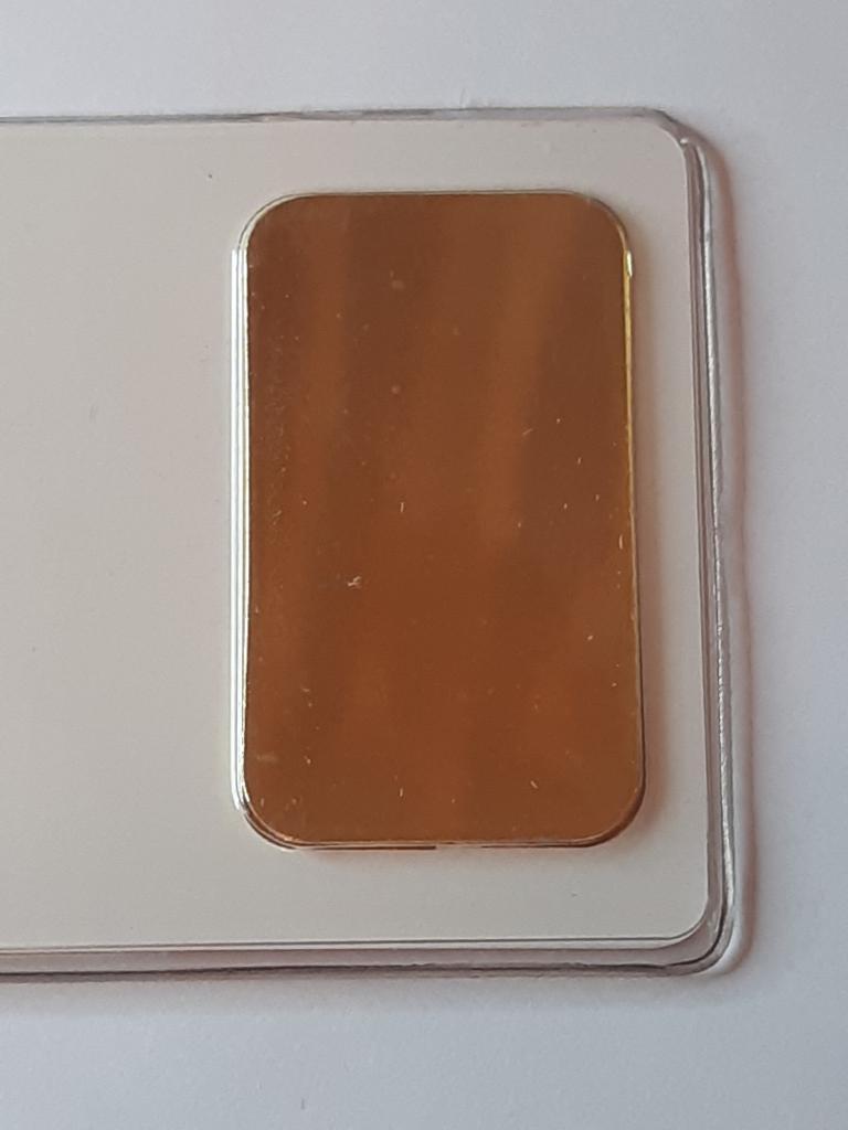 Слиток Золото 999 проба Швейцария вес- 31,1 гр ОРИГИНАЛ с рубля