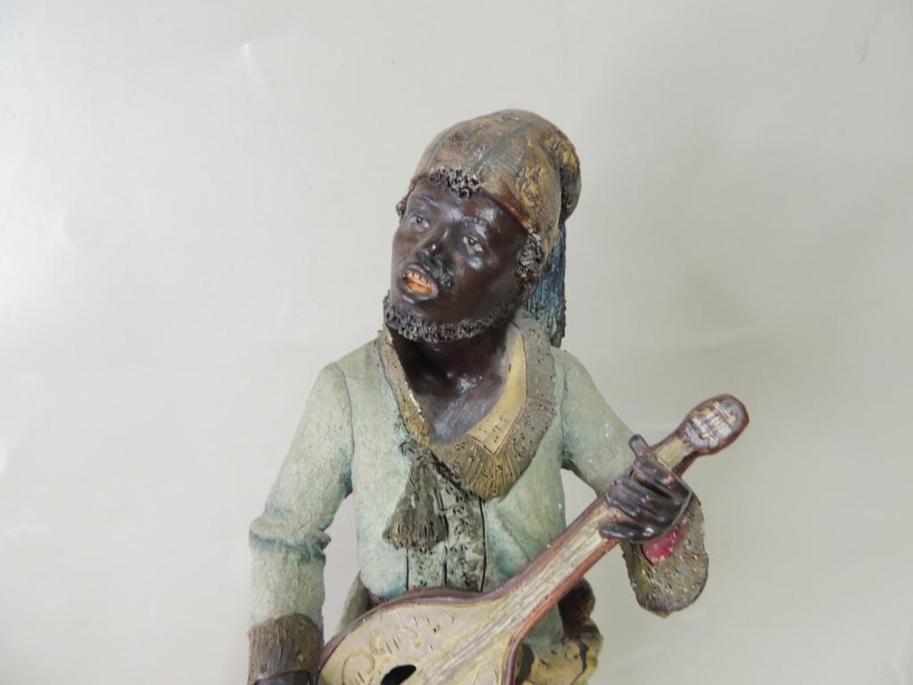 Статуэтка Терракота   Араб Уличный Музыкант Европа Оригинал  Высота 37 см С Рубля