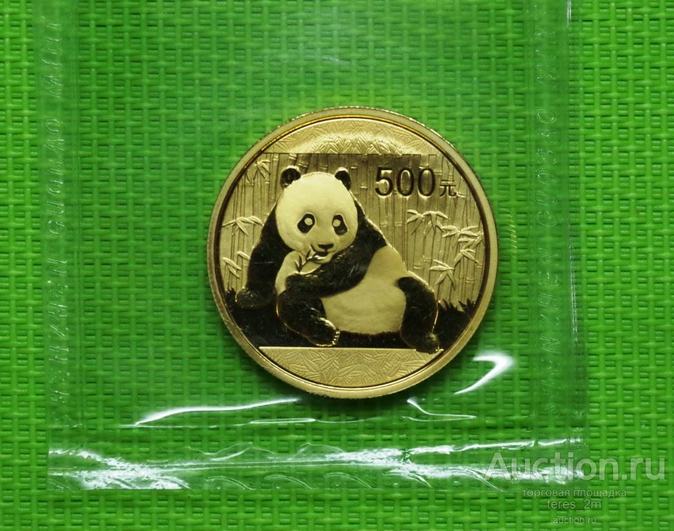 Панда 2015 г. унция золота.