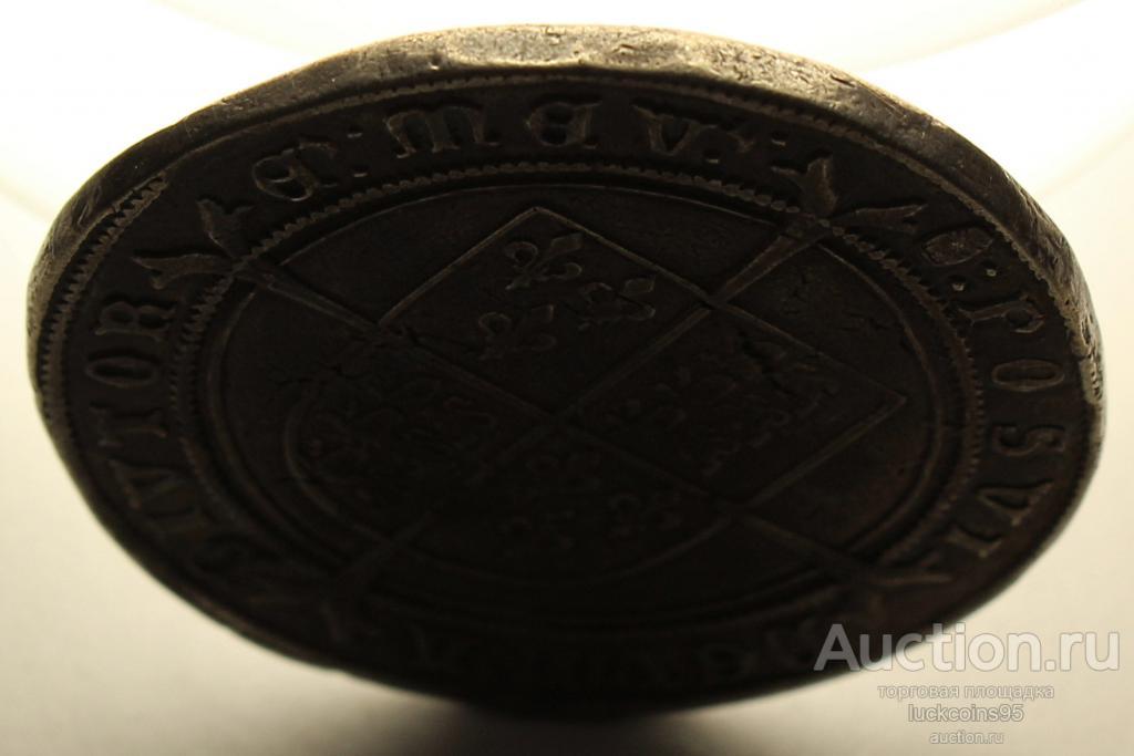 1 Крона 1552 года короля Эдуарда VI Тюдора. Англия. Серебро 925 пробы - 30.99 грамм. Редкость - RRR!