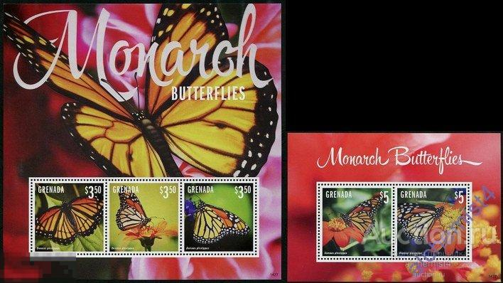 Гренада 2014 ** Насекомые: Бабочки