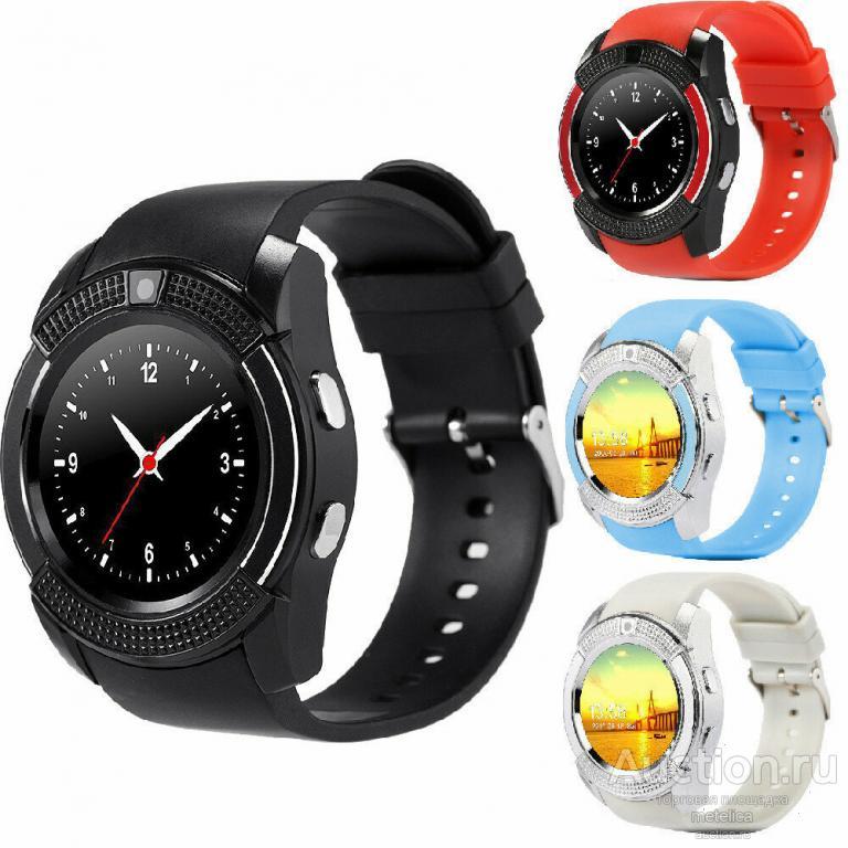 Смарт часы Smart Watch V8 black, silver,blue, pink