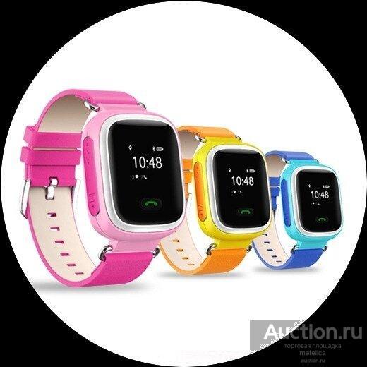 Детские Смарт часы Smart baby Watch Q60 blue, pink,orange
