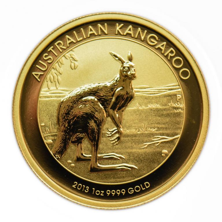 100 долларов 2013 год. Австралийский кенгуру. Золото 999! 1 oz.  (31.1 гр) Австралия