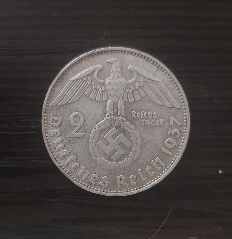 2 рейхсмарки 1937. D