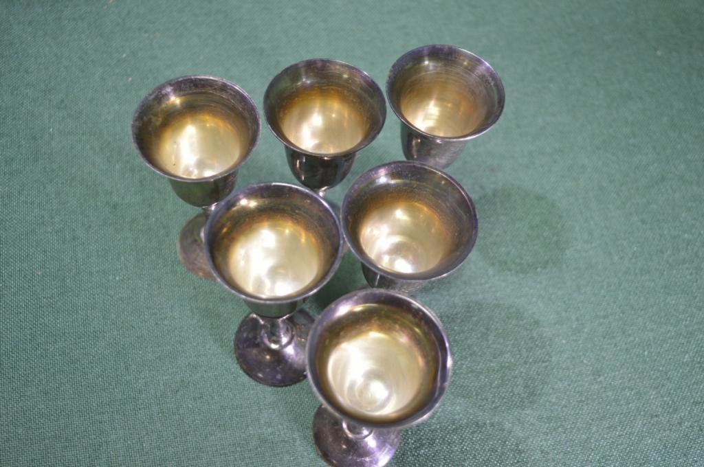 Рюмки металлические (6 штук). Индия.