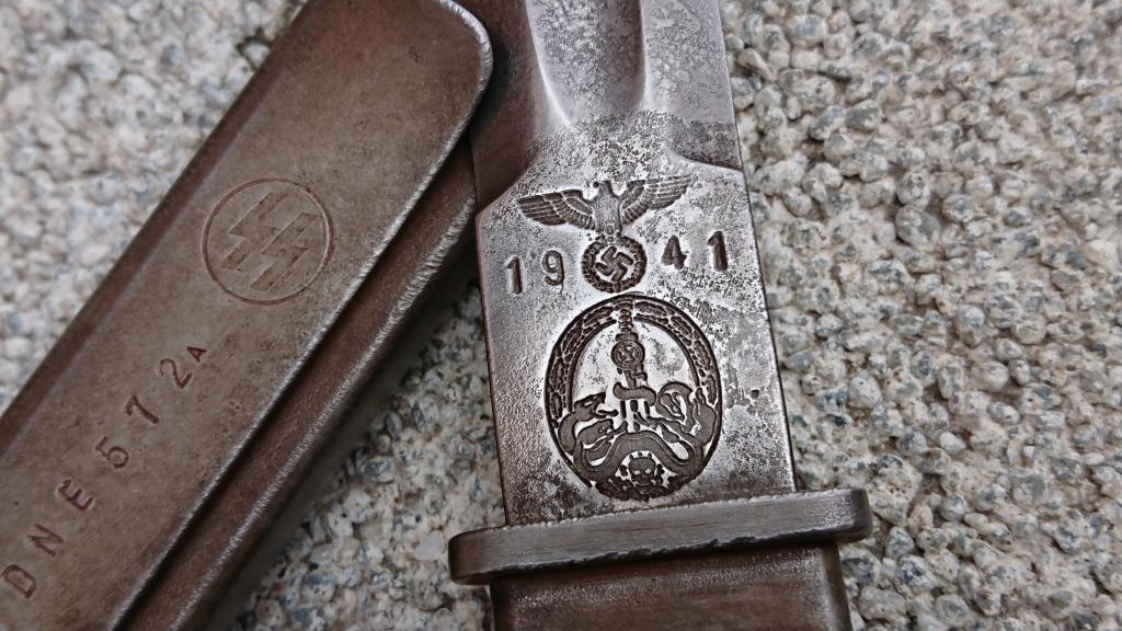 Нож Немецкий Третий Рейх- 1941г . -Травление-клейма-цифры.