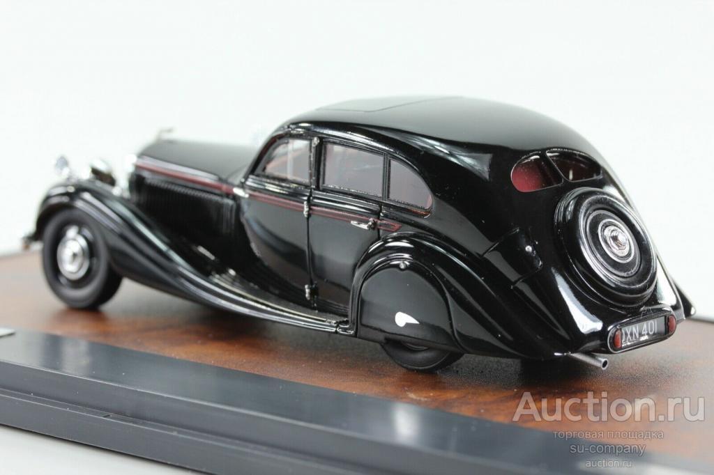 BENTLEY 4,5 Litre Gurney-Nutting Airflow Saloon #B118HK 1936 Blac 1:43 Matrix GLM Бентли MX40201-152