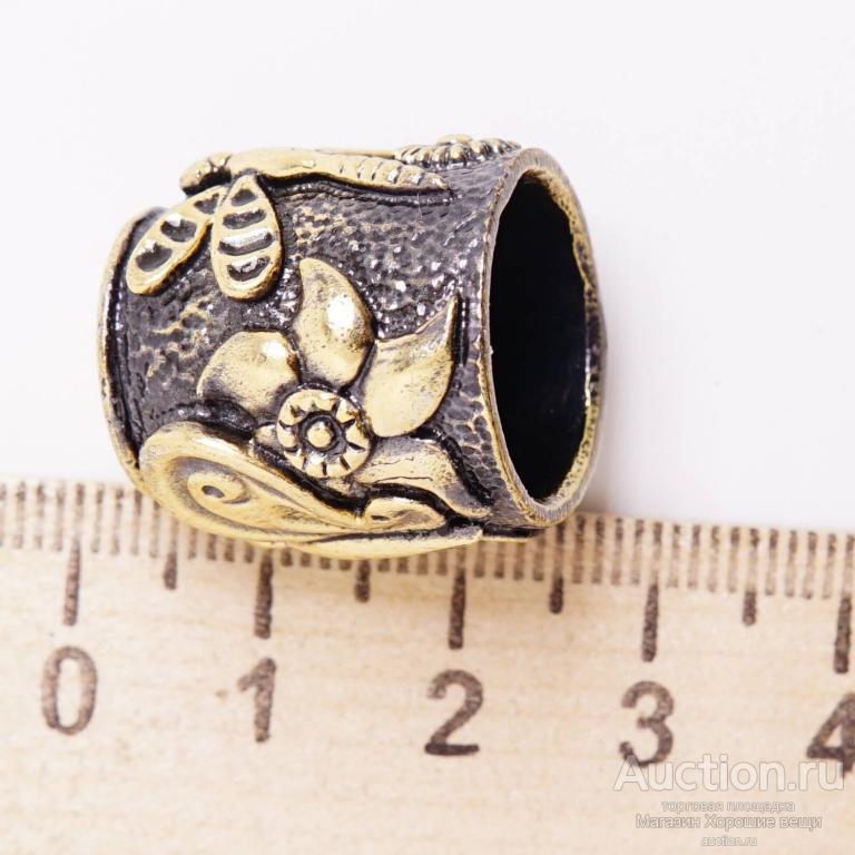 Напёрсток Бабочка на цветах сувенир подарочный Бронза латунь наперсток швейный стрекоза 3110