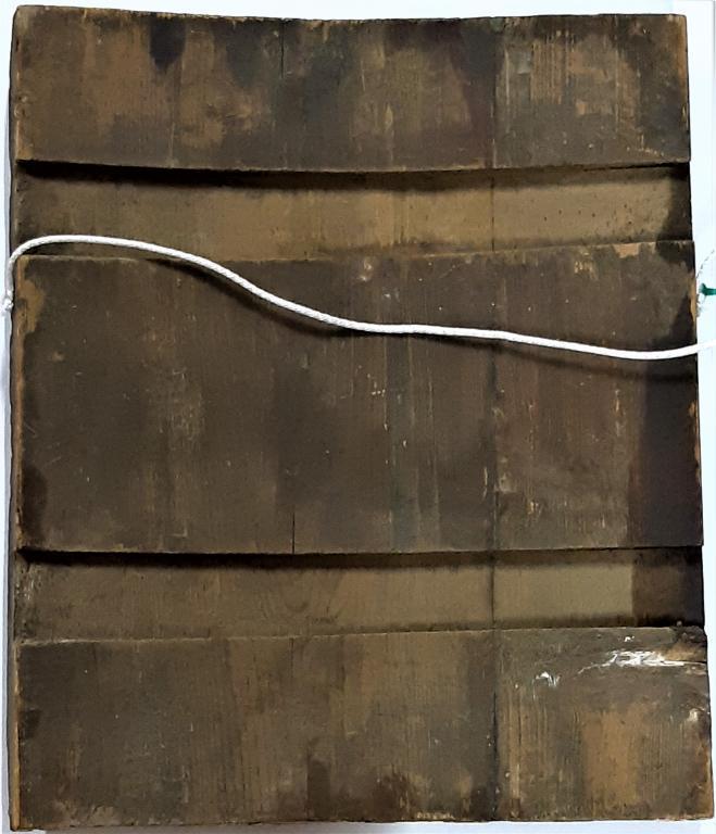 Старинная Икона Иоанн Креститель Дерево Краски Левкас Темпера Размер 31Х37 С Рубля