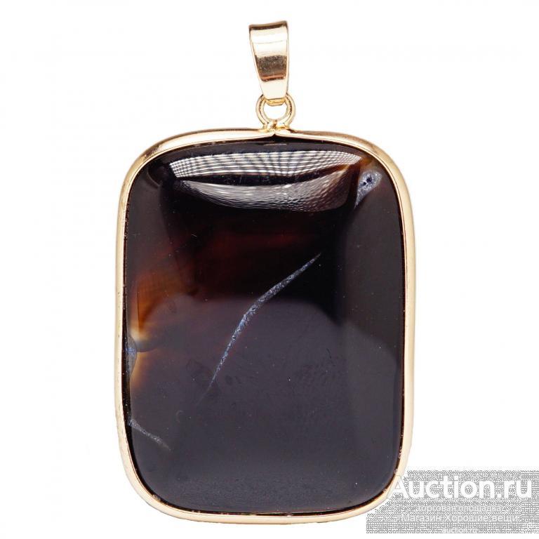Подвеска камень Агат чёрный натуральный камни природные подвеска украшение на шею 3148