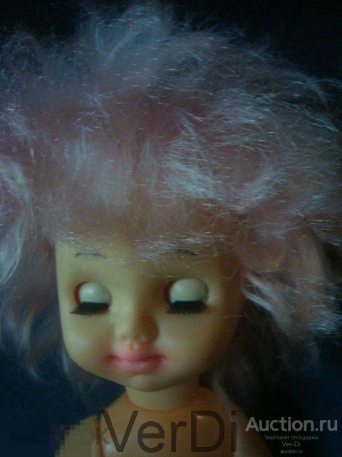 кукла СССР 34 см розовые волосы игрушки фигурки игры советское детство винтаж