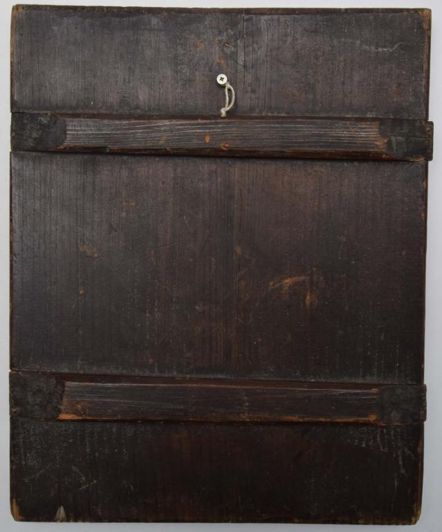 Старинная ковчежная икона «Святой Николай Чудотворец». Темпера, Левкас. Без реставраций!