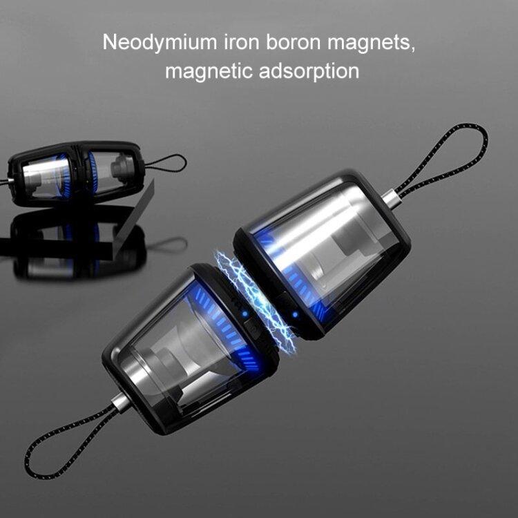 Беспроводная Bluetooth колонка JUSTNEED TWS водозащитная с микрофоном и поддержкой hands-free (Blac