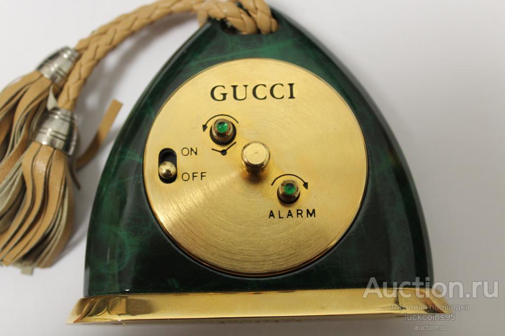 """Настольные, каминные часы-будильник """"Gucci"""". ОРИГИНАЛ."""