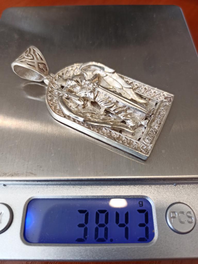 Ладанка Иконка Кулон Серебро  вес: 38,43 гр  смотри мои лоты много серебра
