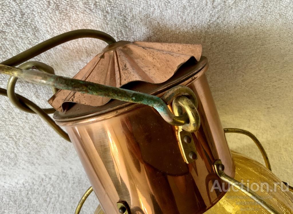 Стар фонарь Медь Латунь Стекло 31 см 1,8 кг