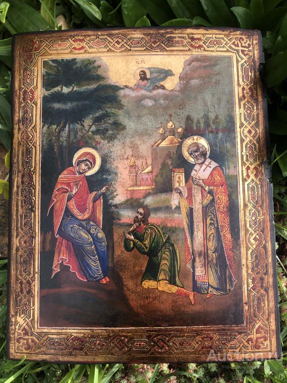 Беседная икона Божьей матери. Живописная православная икона.