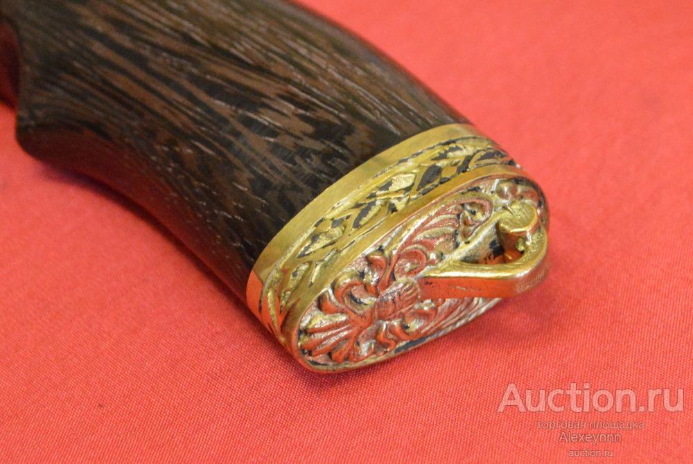 """Нож охотничий """"Шерхан"""". 3,6 мм! Кованая сталь Алмазка ХВ-5. Венге, латунь! С рубля!"""