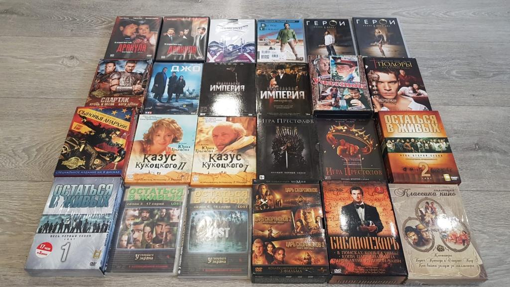 Подборка шикарных сериалов на DVD. Коллекционные издания.