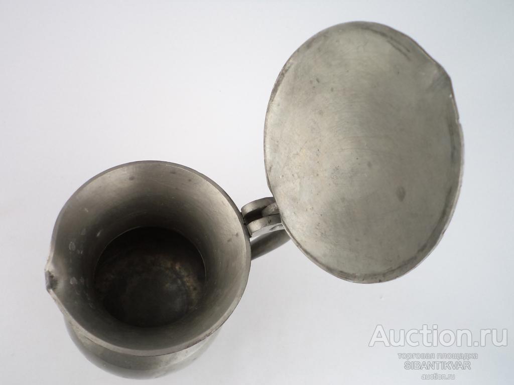 814 ак СТАРИННЫЙ КОЛЛЕКЦИОННЫЙ КУВШИН ОЛОВО ФРАНЦИЯ 1920 годы дом стол кухня сервировка