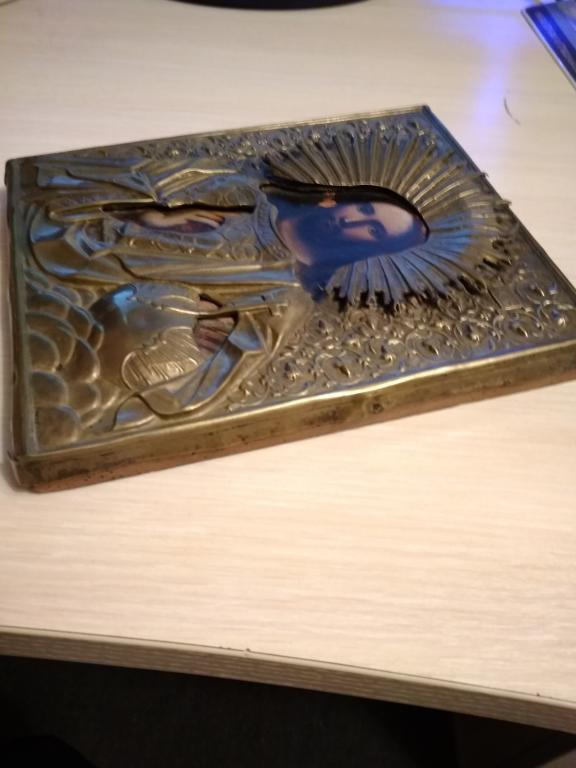Старая икона Иисус Христос (Спаситель). С рубля