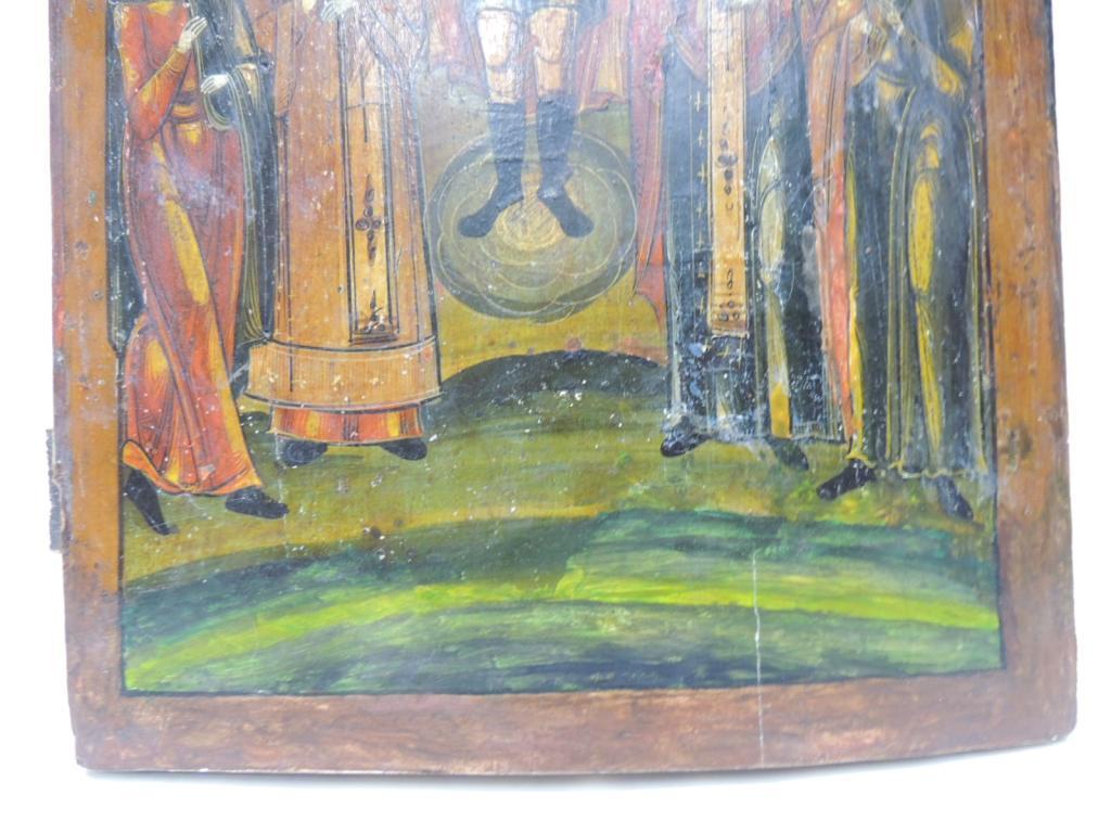 Икона Архангел Михаил Со Святыми Дерево Краски Темпера Размер 41Х34 см С Рубля