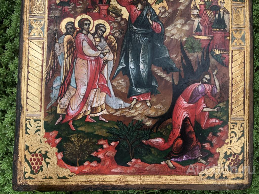 ЖИВОПИСНАЯ ИКОНА «Искушение Диаволом Иисуса Христа в Пустыне» РЕДКОСТЬ!