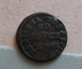 Копейка Петра 1713 года малый всадник с 1 рубля