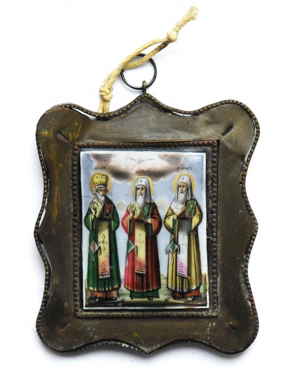 """Финифть """"Избранные святые"""". 9.5 х 11 см."""