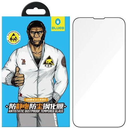 Защитное антистатик стекло для iPhone 13 mini BlueO 2.5D Silk full cover Anti-Static, 0.33 мм, Blac