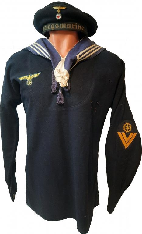Фуражка бескозырка моряка Кригсмарине матроса Вермахта третий 3 рейх Kriegsmarine ОРИГИНАЛ !!!