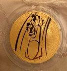 Золотая Монета 200 рублей 2010 года ММД горные лыжи Proof